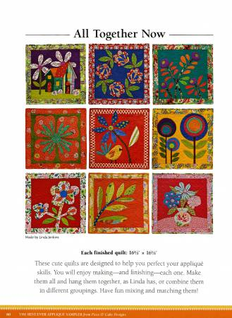 Best-ever Applique Sampler from Piece O' Cake Designs: 5 Projects, 9 Blocks to Mix, Match & Combine by Becky Goldsmith and Linda Jenkins