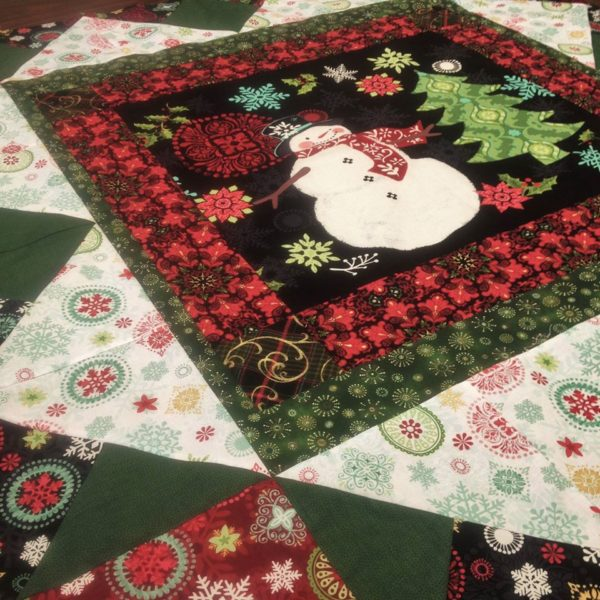 "Holly Jolly Panel Quilt Kit 48"" x 48"" Featuring fabrics from the Holly Jolly collection by Jennifer Brinley"