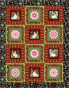 Holly Jolly Block Quilt Kit