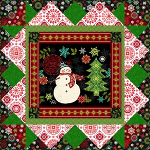 Holly Jolly Panel Quilt Kit