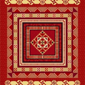 "A Prairie Gathering Quilt Kit By Pam Buda 88"" x 100"""