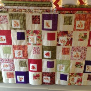 "Rooftop Orchard Quilt Kit From It's Sew Emma Featuring Autumn Spice from P&B 56"" x 64"""