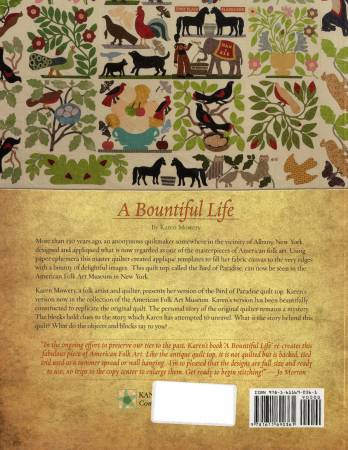 A Bountiful Life: An adaptation of the Bird of Paradise quilt top in the America by Karen Mowery