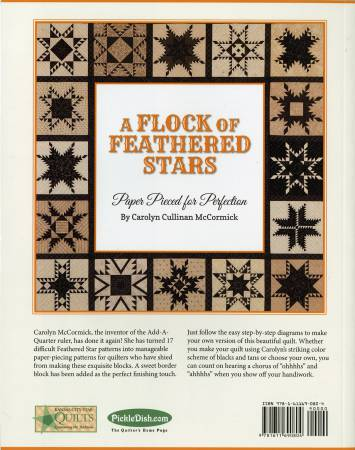 A Flock of Feathered Stars: Paper Pieced Perfection by Carolyn Cullimam McCormick