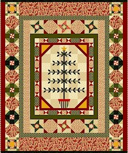 "Always the Season Quilt Fabric by Faye Burgos Quilt by Vicki Bellino of Bloom Creek 56"" x 70"""