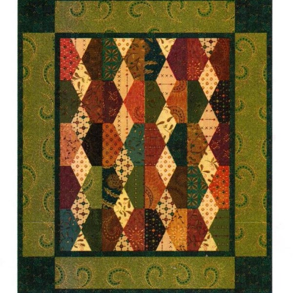 "Honeycomb Quilt Kit 12"" x 14"" Kim Diehl Simple Whatnots #2"