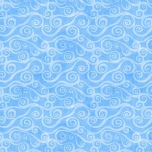 Blue Swirly Scroll 108in Wide Back Flannel 5752-400
