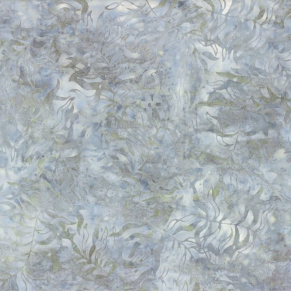 Grey Bamboo Leaves 108in Wide Back 44268-914