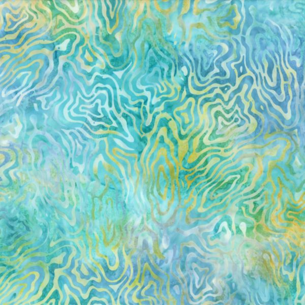 Tropical Blue Rippled Reflections Batik 108in Wide Back 44271-457